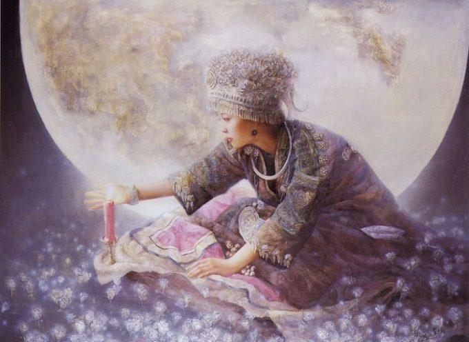 Дева Луны в картинах Чжао Чуна  и в поэзии древнего Китая