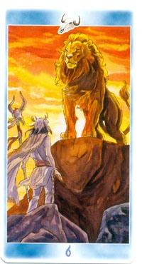Карта таро в пасти у льва