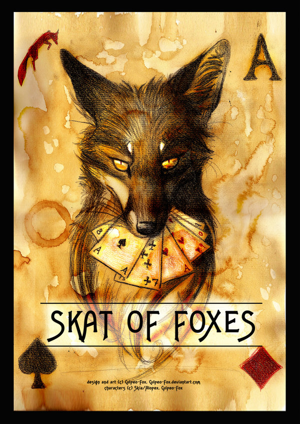Skat_of_Foxes_Card_game_by_Culpeo_Fox