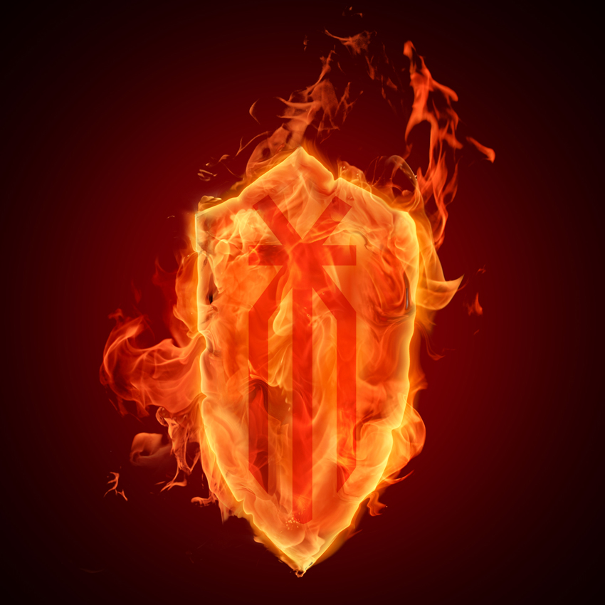 Картинки щит в огне