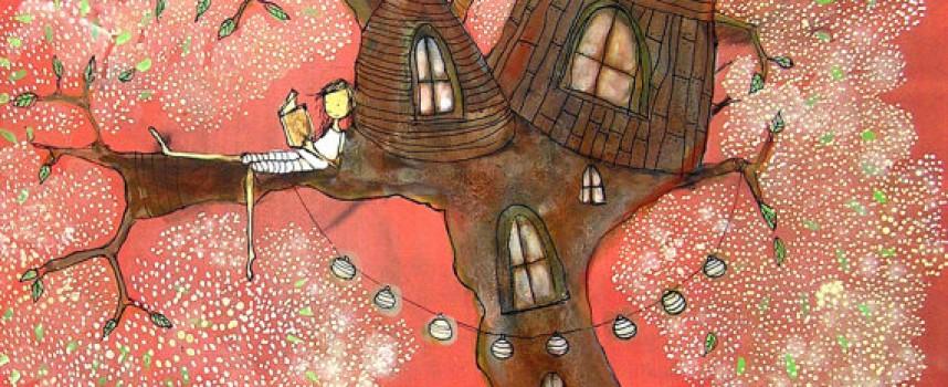 Домики, девочки и лоскутки художницы Джоанны Райт