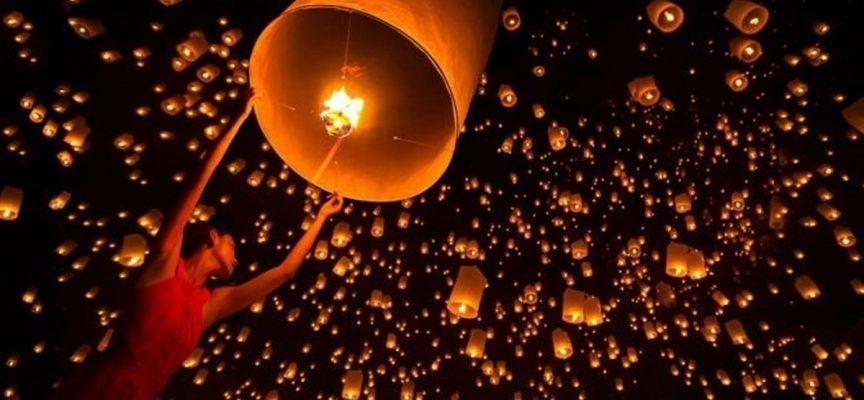 Китайский фонарик — на исполнение желания